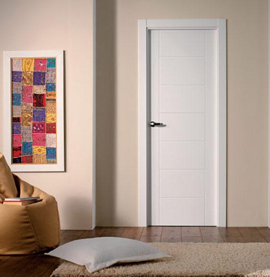 puertas interior blancas lacadas